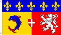 5' x 3' Rhone Alpes Flag France Region Regional French Province Banner