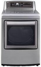 """LG SteamDryer Series 27"""" Graphite Steel 7.3 cu. ft. Electric Dryer DLEX5780VE"""