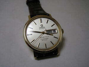 OMEGA  SEAMASTER DEVILLE  AUTOMATIC DATE/DAY 14K SOLID YELLOW GOLD 1975 WATCH