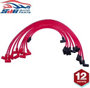 Ignition Spark Plug Lead Wires for Chevy SBC 262 350 MALE HEI Silverado 5.0 8mm
