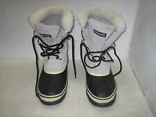 OZARK TRAIL LEATHER & RUBBER WOMEN'S SIZE 9 THINSULATE LINED WINTER SNOW BOOTS