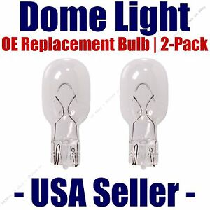 Dome Light Bulb 2-Pack OE Replacement - Fits Listed Pontiac Vehicles - 906