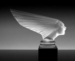 Art Deco Glass Car Mascot ' Victoire ' Hood Ornament Figurine 1930' H.Hoffmann
