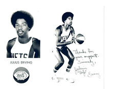 ABA NEW YORK NETS JULIUS ERVING  8X10  PHOTO  BASKETBALL HOF USA FAC'S AUTO