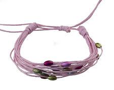 Bracelet multi fils rose perles pastel tous poignets-Line bresilien Wrap 933