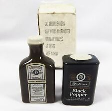 NEW Watkins Vanilla and Black Pepper Salt and Pepper Shakers with original Box