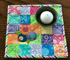 Kit; fun and bright quilt/wool applique/candle mat, fun and easy