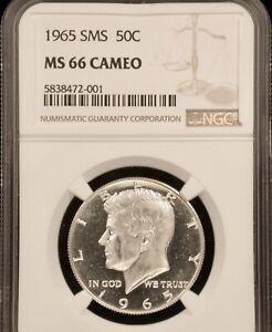 1965 50c SMS NGC MS66 CAMEO !!!!! EXTRA HEAVY PQ 2-SIDED CAMEO !!!!!
