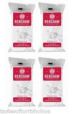 Renshaws 1Kg (4 X 250g) Blanco Flor Pasta de Modelar Decoración de Tortas Sugarcraft