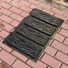 4 pcs Plastic molds NATURAL STONE MURANO for concrete plaster wall brick tiles