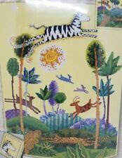 Leisure Arts Fantasy Landscape counted cross stitch kit zebra cheetah jungle