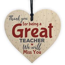 Thank You Teacher Gift Heart Leaving Nursery School Miss You Teaching Assistant