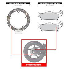 BREMBO REAR DISC PLAQUETTES DE FREIN) - BMW R 850 C (98-01) - 68B407C8