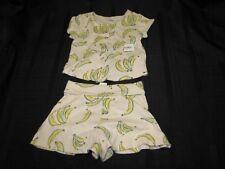 OLD NAVY BANANAS SHIRT SHORTS SUMMER CLOTHES OUTFIT BABY GIRL 12-18 NEW NWT