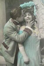 cpa couple baiser amour femme postcard love lovers woman kiss cartolina amore ak