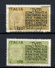 ITALIA 1977 SG # 1511-2 incoraggiamento ai contribuenti utilizzato Set # 40415