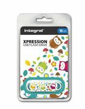 Integral USB 2.0 Expression Flash Drive - 16GB Owls INFD16GBXPROWLS