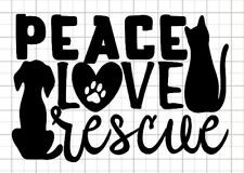 peace love and rescue vinyl decal
