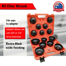 Cup Type Oil Filter Wrench Tool Set  Removal Socket Kit Automotive Shop 15PCS