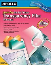 Apollo Inkjet Printer Transparency Film, Clear Cg7031S