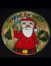 """Cookies For Santa Plate 7.75"""" Round Christmas Village Kid's Collection Very Nice"""
