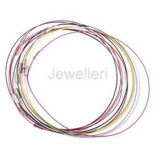 12pcs Steel Memory Wire Cord Necklace Hoops Chains Clasp Choker DIY Jewelry