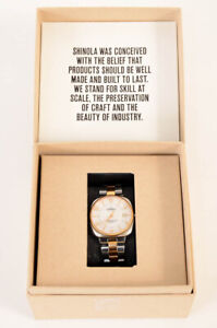 Shinola Gomelsky silver mother of pearl bracelet quartz square ladies watch $850
