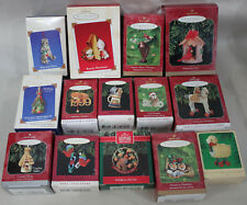 Hallmark Ornament Animal Lot of 14 Cat Bird Horse Racoon Moose Birdhouse lamb
