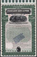 1899 The Chicago and Alton Railroad Company - $1000 Gold Bond