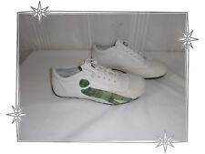 Chaussures Baskets Bas Blanc et Vert Camouflage Cushe Pointure 36 Neufs