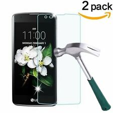 2-Pack Premium Tempered Glass Screen Protector for For LG Tribute 5 / LG K7