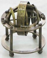 SOLID BRASS TABLE TOP ARMILLARY NAUTICAL COLLECTIBLE ZODIAC SPHERE GLOBE Decor