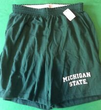 NWT NCAA COTTON EXCHANGE MICHIGAN STATE SPARTANS SHORTS - GREEN - LARGE (36-38)