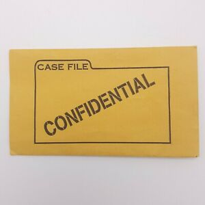 Clue Case File Envelope Confidential Replacement Game Part 1997
