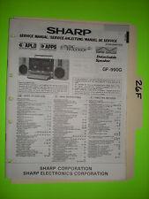 Sharp gf-990 g service manual original repair book stereo tape player boombox