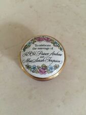 Halycon Days Enamel Box Marriage of Prince Andrew & Sarah Ferguson