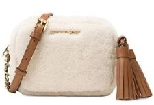 New Michael Kors Jet Set Travel Small Chain Crossbody shearling fur pouch bag