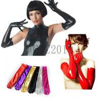 Women's PVC Opera Long Gloves Wet Look Shiny Novelty Party Costume Gloves