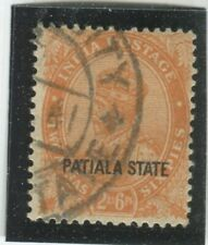 India - Convention States - Patiala Stamps Scott  #66 Used,Fine (X6507N)