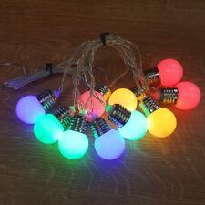 LED Party Lichterkette Glühbirne 10er bunt / kaltweiß 8 Funktionen innen JFLA7C