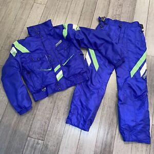 SPYDER Ski Suit Coat Pants Two Piece Snow Bib Snowsuit Vtg 80s 90s Mens LARGE XL