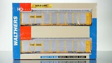 Walthers Gold Line Tri-Level Auto Carrier CSX HO scale (2 Pack)