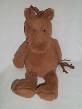 "JELLYCAT 12"" Plush PIPERS Brown HORSE Pony Stuffed Baby Bean Bottom Animal Toy"