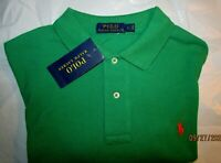 """NWT Beautiful Ralph Lauren Polo Large L S/S Deep Kelly Green Polo """"Navy"""" PONY !!"""