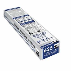 Electrode de Soudage Traditionnelle Acier Rutile GYS 110 Pièces Ø 2,5 mm Soudure