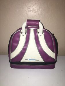 Nintendo Wii Brunswick Bowling Bag Carrying Case Wii Sports Edition Purple white