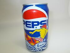 Vintage PEPSI soda CAN opened empty bottle COOL ART SUPER MOTIVE 1991