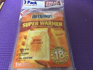 Hothands Air Activated Hand Warmers , One-3pk, Up To 18hrs Heat Expires 01/24