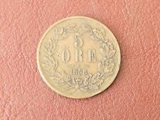 More details for sweden 1858 5 ore coin king oscar i collectable grade