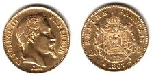 1867-BB France Gold 20 Franc Emperor Napoleon III LUSTROUS--A CLASSIC OLDER Coin